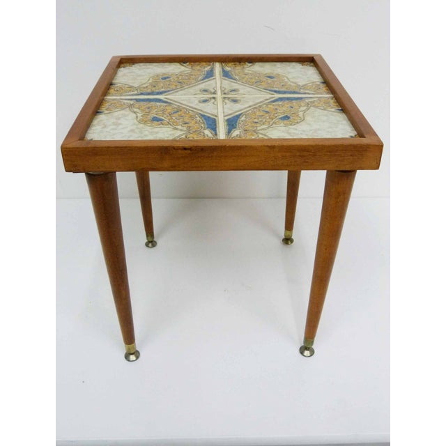 Monterey-Style Spanish Tile Side Table - Image 2 of 6