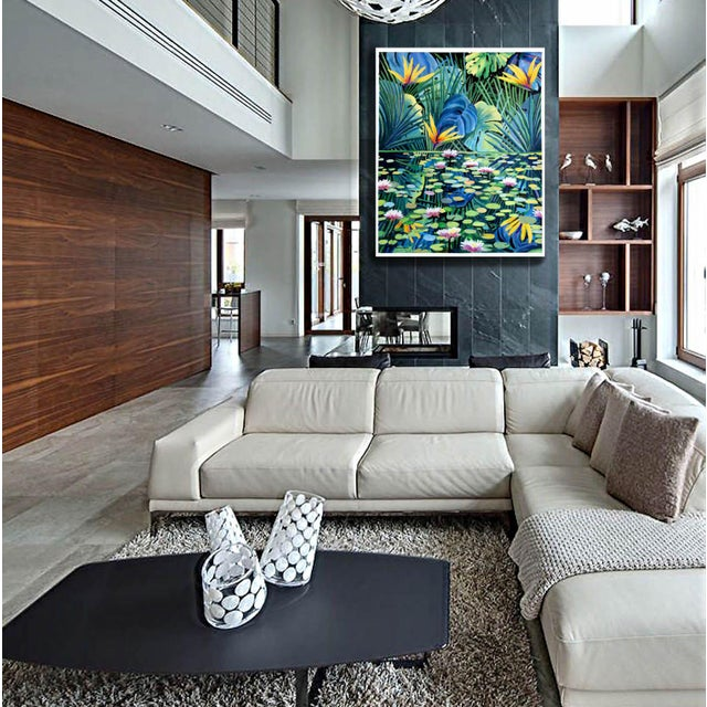 """Reflection"" Tropical Acrylic Painting For Sale - Image 6 of 10"