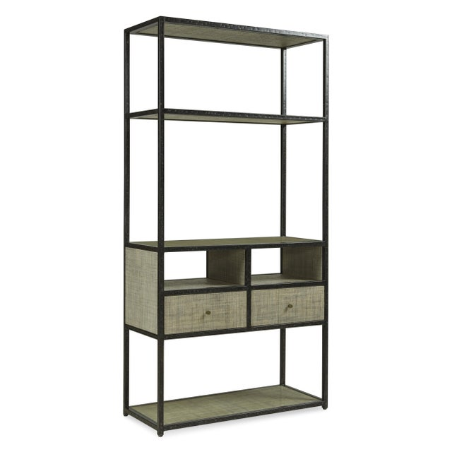 Contemporary Century Furniture Palmetto Etagere, French Grey For Sale - Image 3 of 3