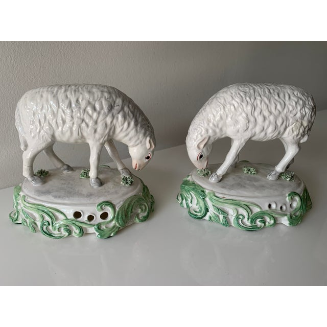 Mid 20th Century Chelsea House Sheep Made in Italy - a Pair For Sale - Image 9 of 9