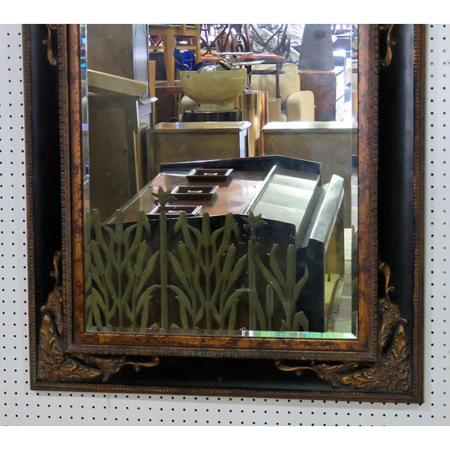 Regency style distressed painted wall mirror.