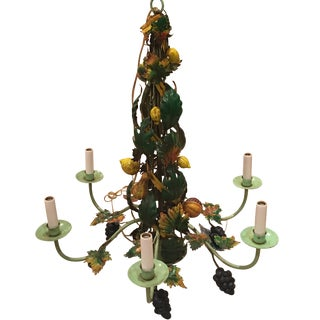 "Wildwood ""Plentiful Fruit"" Brass Chandelier"