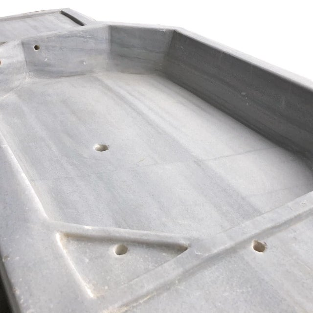 Stone Antique Art Deco Turkish Marble Sink For Sale - Image 7 of 9