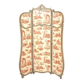 French Louis XV Bleached 3-Fold Screen For Sale