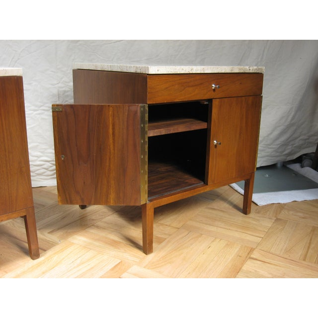 Mid-Century Modern Paul McCobb Calvin Side Tables - a Pair, Storage Cabinets For Sale - Image 3 of 12