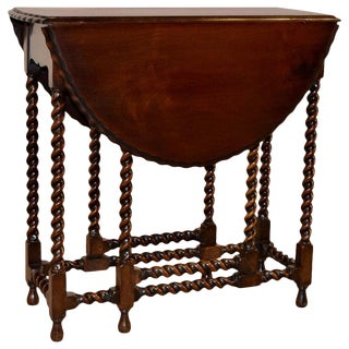 Late 19th Century Mahogany Gate Leg Table For Sale