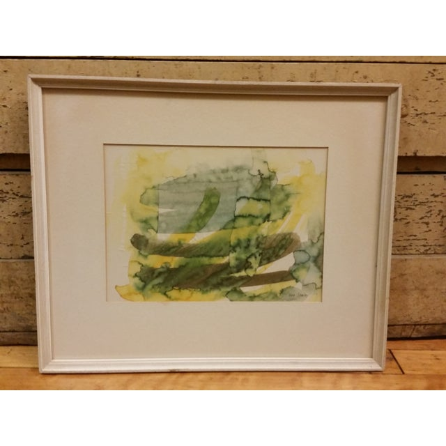 Abstract Expressionist Watercolor Painting - Image 2 of 5