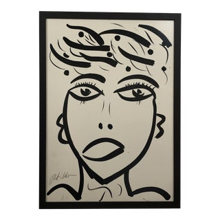 """Picasso Face"" Painting by Peter Keil For Sale"