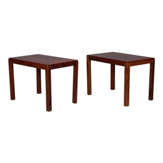 1950s Danish Modern Rosewood Side Tables - a Pair For Sale