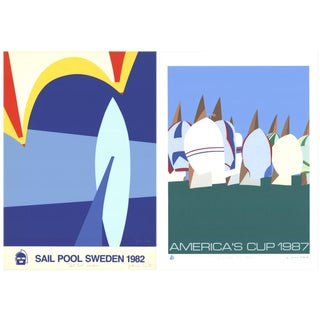 Franco Costa, Sail Pool Sweden & Keep Our Air Clean, Signed Serigraph For Sale
