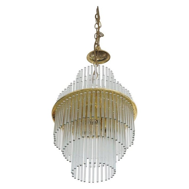 Vintage v. Nason & Co. Chandelier in Murano Glass and Brass For Sale - Image 13 of 13