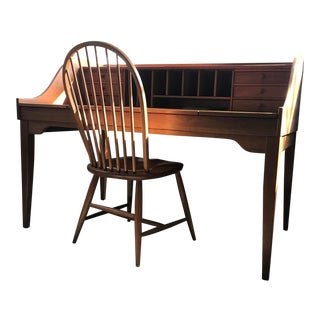 Holmes County Cherry Wood Desk & Chair For Sale