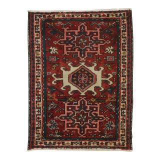 Vintage Heriz Persian Rug with Modern Traditional Style For Sale