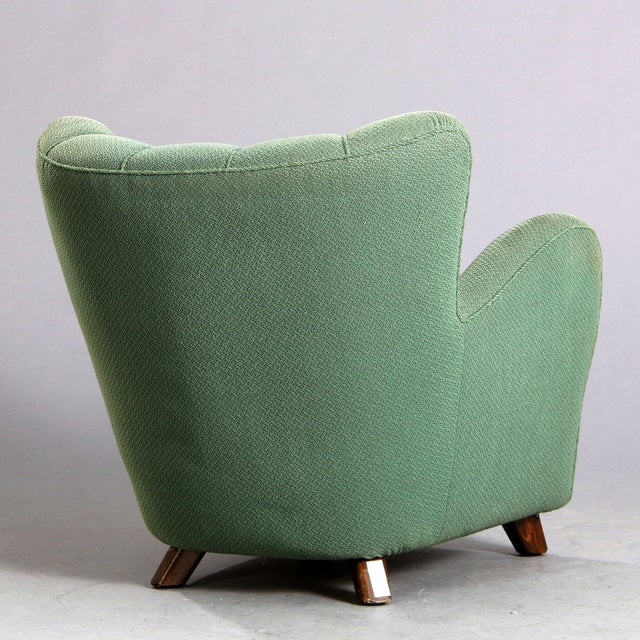 Mid-Century Modern 1940s Vintage Danish Club Chair For Sale - Image 3 of 6