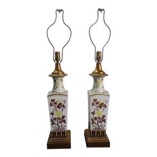 Paul Hanson Chinese Porcelain Vase Form Lamps - a Pair For Sale