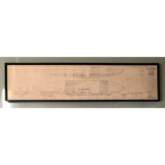 Vintage U.S. Navy Airship Blueprint For Sale - Image 11 of 11