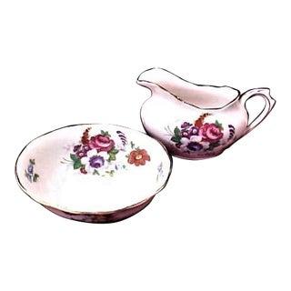 Royal Albert Small Cream & Sugar Dishes - A Pair For Sale