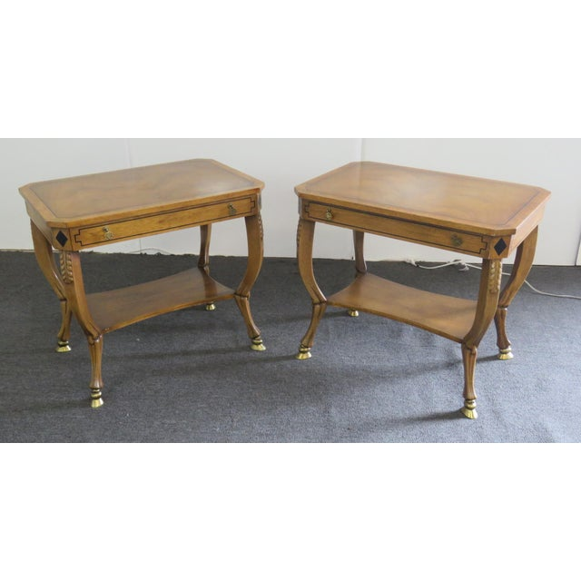 Pair of Regency Style End Tables For Sale - Image 13 of 13