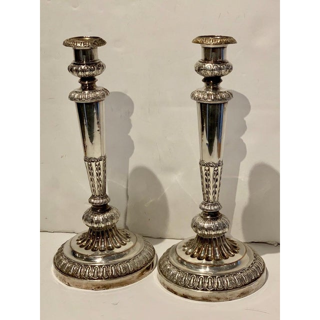 Elegant Pair of Old Sheffield Plate Candelabra, Circa 1830 For Sale - Image 4 of 13