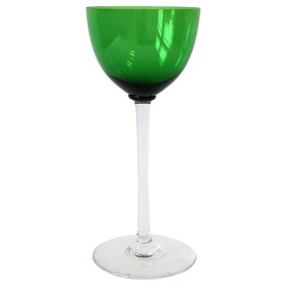 Baccarat French Crystal Wine Glass For Sale