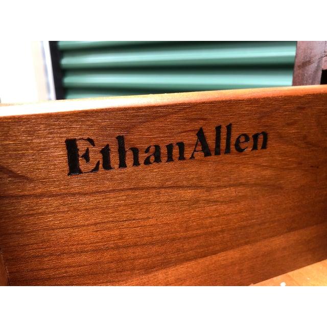 Ethan Allen Georgian Court Cherry Armoire Dresser For Sale - Image 10 of 12