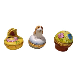 Little Ceramic Ring Boxes - Set of 3
