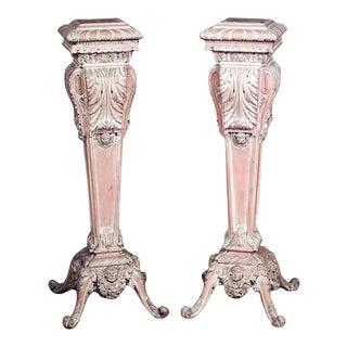 Italian Rococo Bleached Pedestals - a Pair For Sale