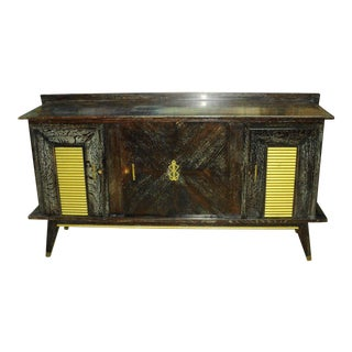 20th Century French Cerused Oak Credenza Sideboard For Sale