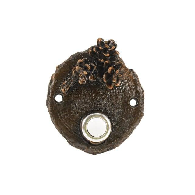 Log End Western Hemlock Doorbell For Sale - Image 4 of 4