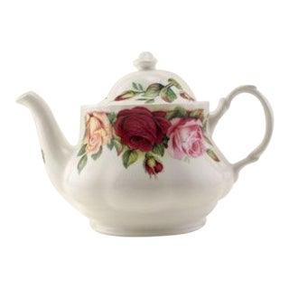 English Garden Rose Teapot For Sale