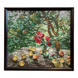 """Under the Apple Tree"" Oil Painting For Sale"