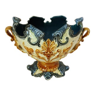 French Majolica Jardiniere For Sale