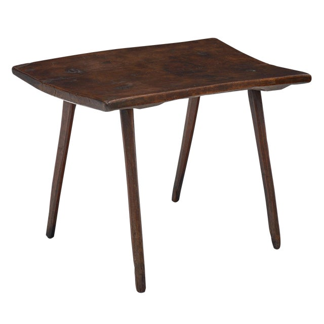 Italian Farm Wood Side Table For Sale