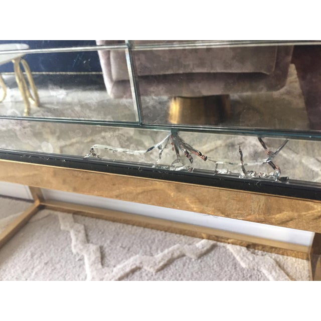 Metal Mid-Century Modern Jonathan Adler Delphine Mirrored Bar For Sale - Image 7 of 8