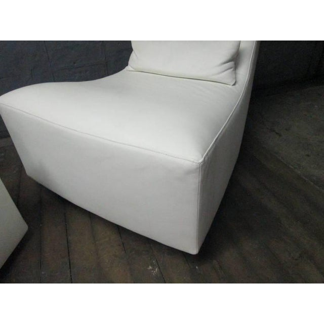 Animal Skin Leather Lounge Chair and Ottoman by Ligne Roset For Sale - Image 7 of 10