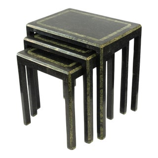 Maitland-Smith Modern Nesting Tables-Set of 3 For Sale