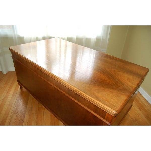 Early 1900's Mahogany Partner Desk by CF Roth - Image 6 of 9