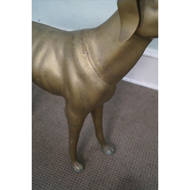 Vintage Brass Whippet Greyhound Dog Statue - Image 4 of 10