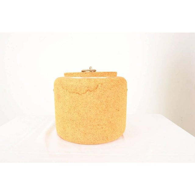 Mid-Century Modern 1970s Cork Ice Bucket by Signe Persson Melin for Boda Nova Sweden, Midcentury For Sale - Image 3 of 8