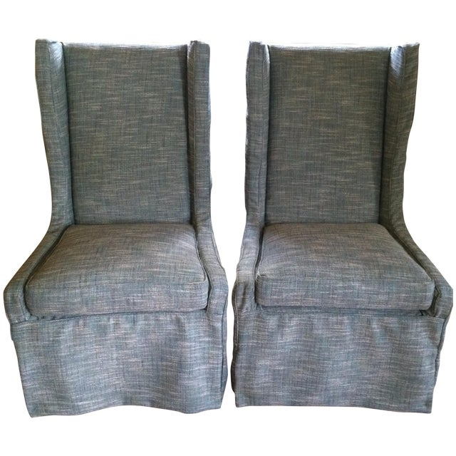 Custom Upholstered Chairs - A Pair - Image 1 of 5
