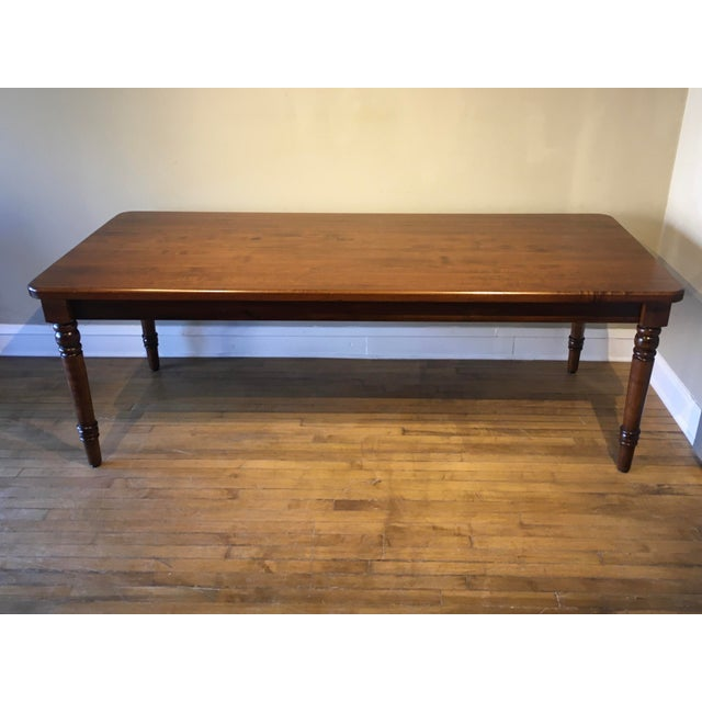 20th Century French Country Farmhouse Dining Table For Sale - Image 9 of 9