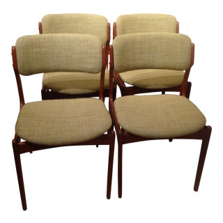 O.D. Møbler Mid-Century Danish Modern Dining Chairs - Set of 4