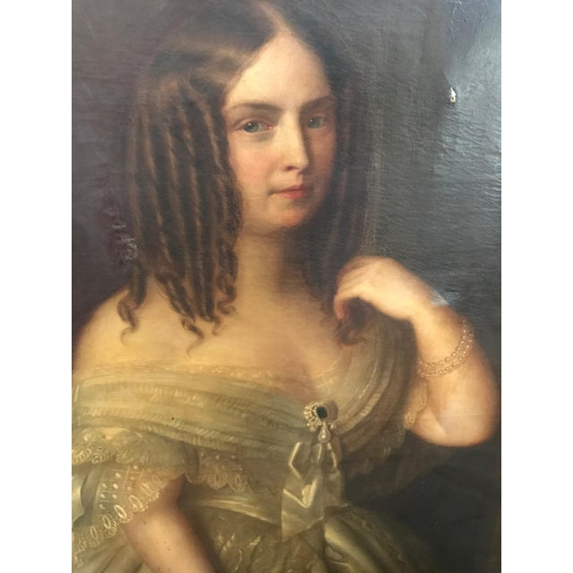Antique Giuseppe Fagnani Oil Portrait Painting - Image 3 of 8