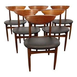 Mid-Century Danish Modern Warren Church Lane Perception Dining Chairs - Set of 6