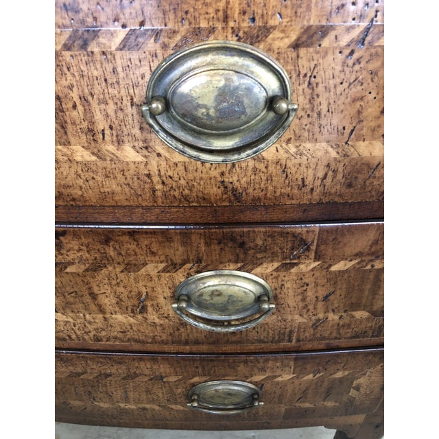 Burled Walnut Chest of Drawers With Beautiful Inlay For Sale - Image 4 of 10