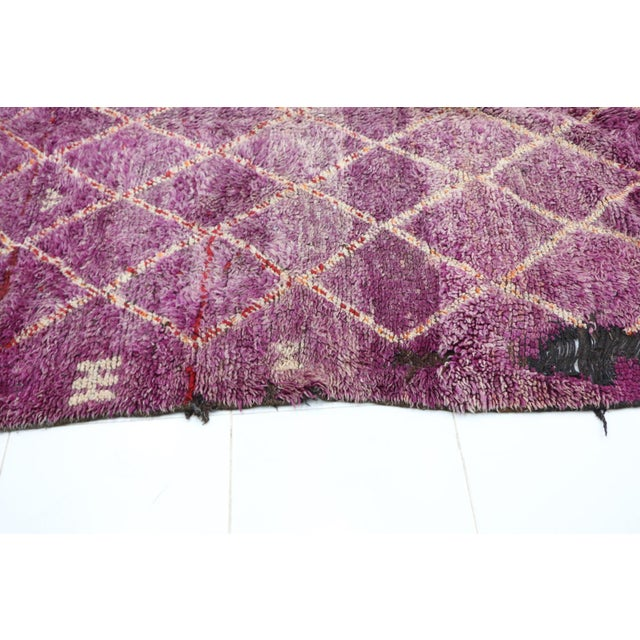 """Boujad Vintage Moroccan Rug - 5'2"""" X 7'9"""" For Sale - Image 4 of 6"""
