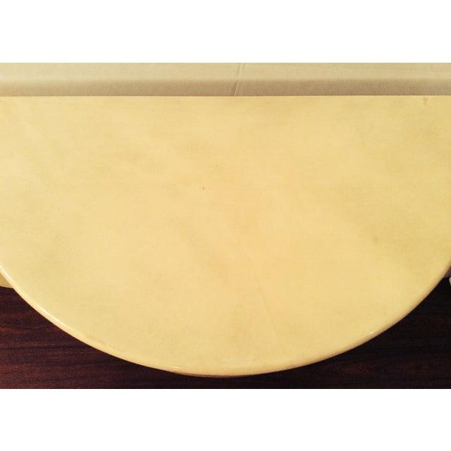 Vintage 1970s Faux Parchment Console Table - Image 10 of 11