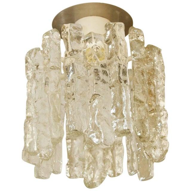 "Transparent Petite ""Sierra"" Ice Glass Flushmount by Kalmar Franken KG For Sale - Image 8 of 8"