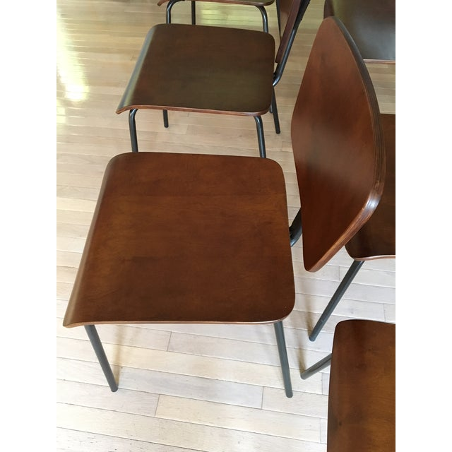 Molded Wood Dining Chairs - Set of 6 - Image 4 of 6