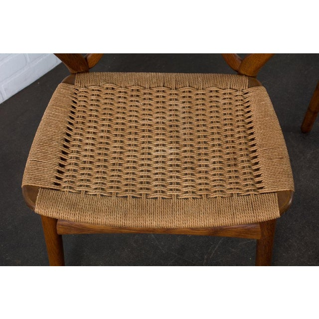Henning Kjærnulf for Bruno Hansen Model 255 Teak Chairs - A Pair For Sale - Image 11 of 13